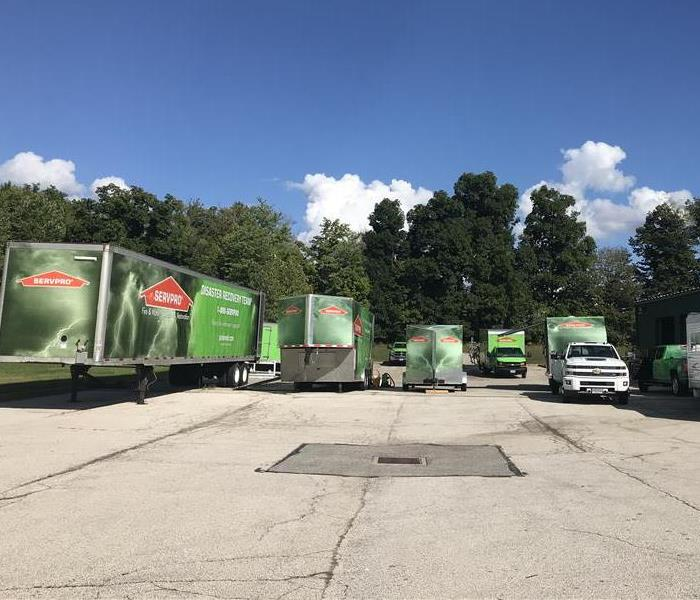 Our SERVPRO Green Fleet Ready 24/7 To Help Out Throughout Southern Cuyahoga County